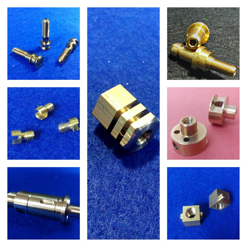 Detalle piezas mecanizado latón