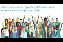 Publicada la Orden reguladora de la gestión colectiva de contrataciones en origen para 2019.