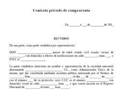 Compra de vivienda mediante contrato privado