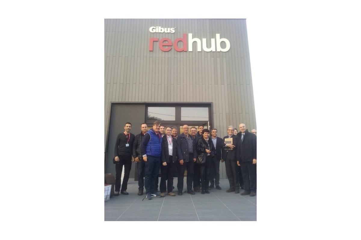 Visita a la fábrica de Gibus, Italia