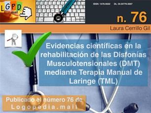 Evidencias científicas en la Rehabilitación de Disfonías  Musculotensionales (DMT) mediante Terapia Manual de Laringe TML)