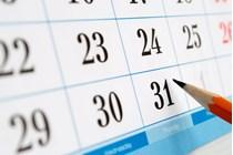Calendario fiscal del mes de febrero