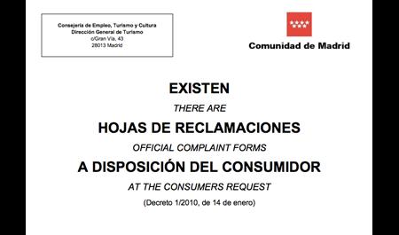 MODELO UNIFICADO DE HOJAS DE RECLAMACIONES
