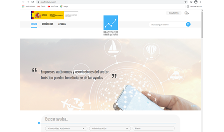 """""""Reactivatur"""", la apuesta web para las ayudas al turismo"""