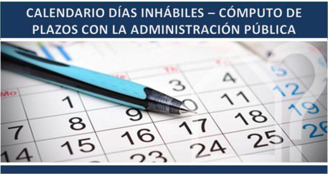 Calendario días Inhábiles 2018