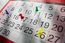 Calendario fiscal del mes de marzo