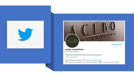 Reactivación página de Twitter Acebo Consultores