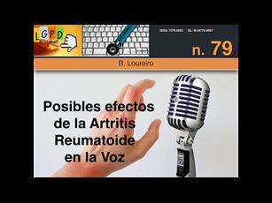 Posibles efectos de la artritis reumatoide en la voz