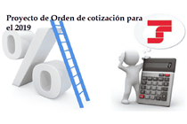 Publicado el proyecto de Orden de cotización para el 2019